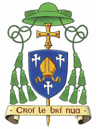 Bishop Crest Logo Motto Croi Le Bri Nua