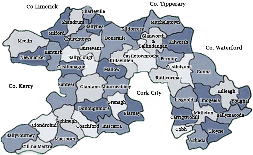 Map Of Cork City Parishes