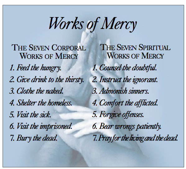 Cloyne Diocese Year Of Mercy Booklet Chapter 9 The Works Of