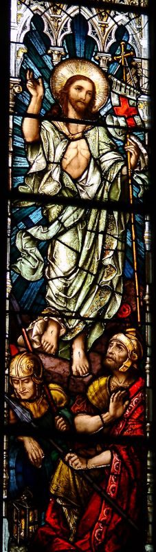 Resurrection Stained Glass Window, St Colman's Cathedral Cobh