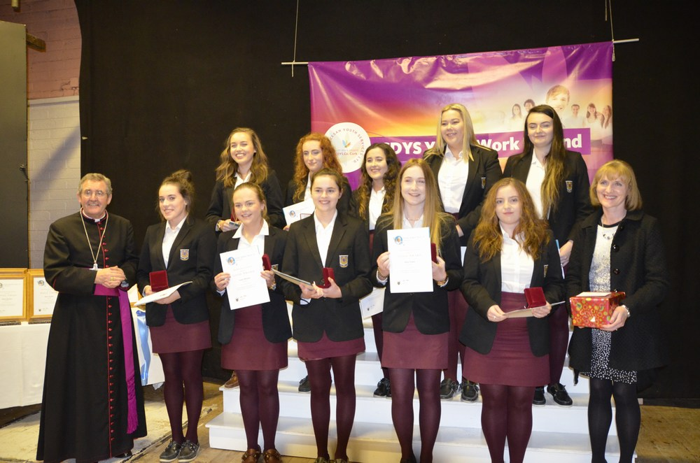 Students from St Aloysius College Carrigtwohill