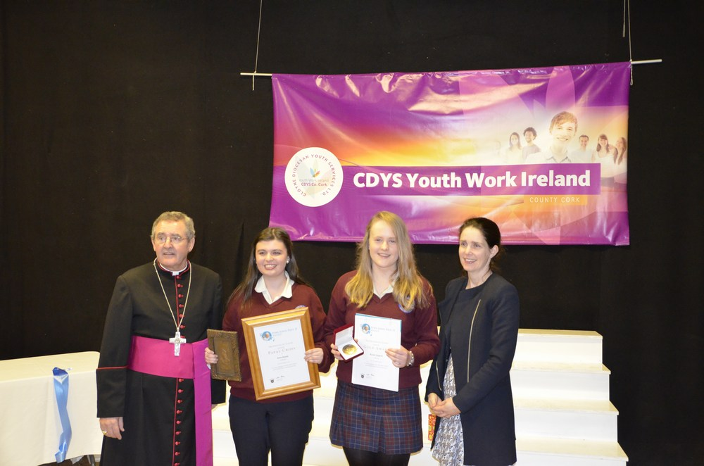 Presentation Convent Secondary School Mitchelstown with Bishop Crean and Ms Kent