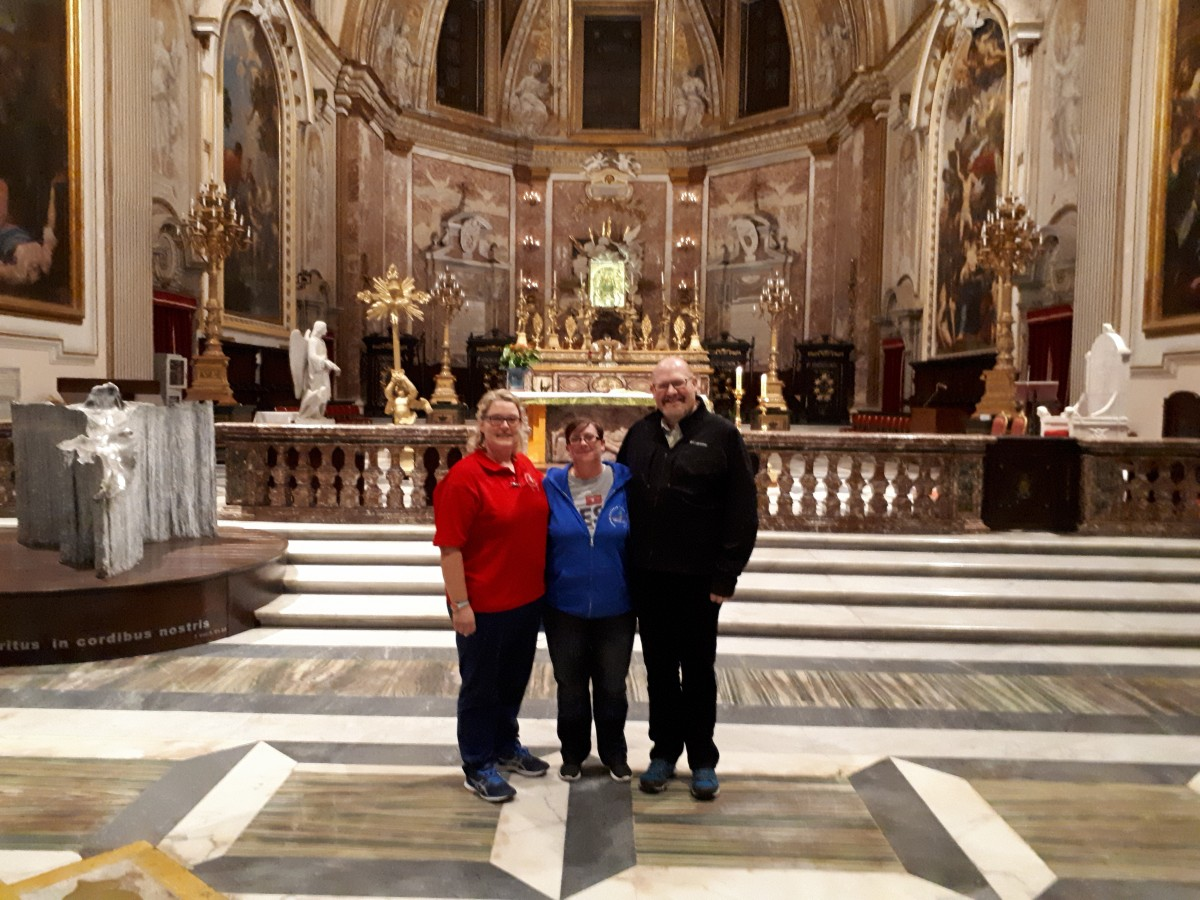 Bernadette, Sharon & Fr Tom in Santa Maria degli-Angeli Church