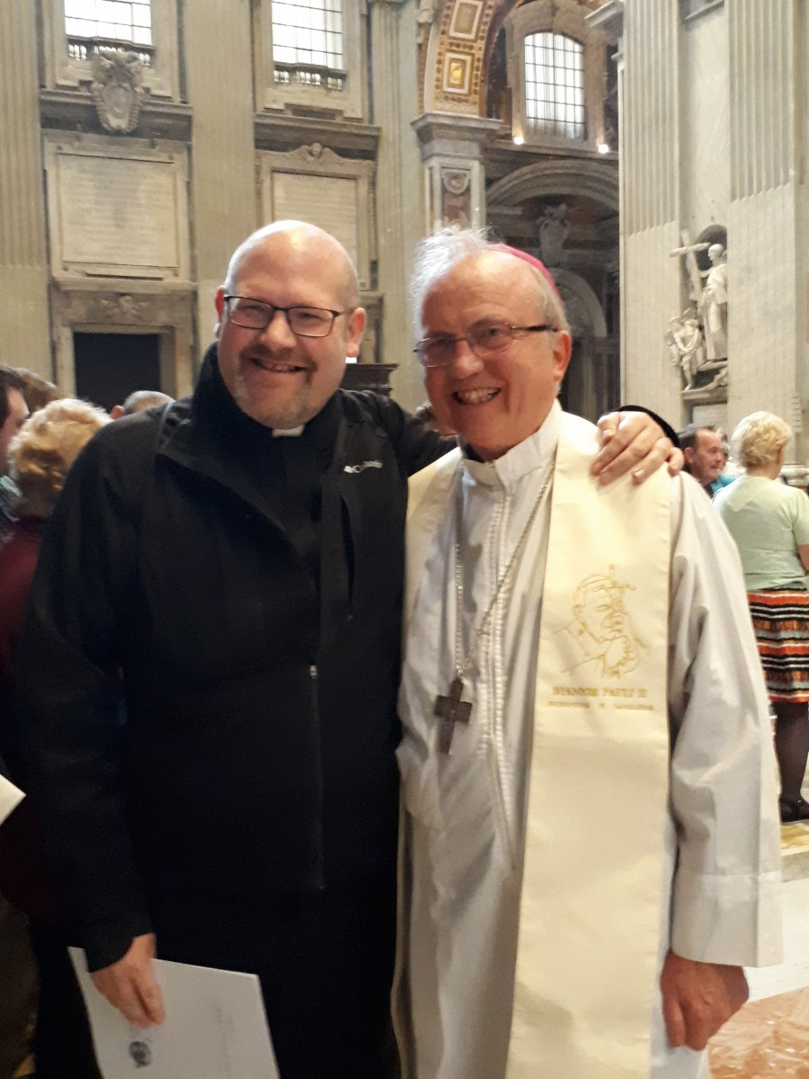 Fr Tom with Bishop McKeown