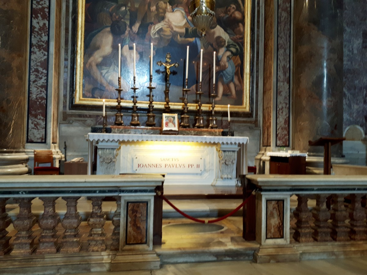 The tomb of Saint John Paul II