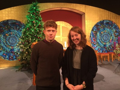 Dominic & Eileen Cronin at the RTE Studio