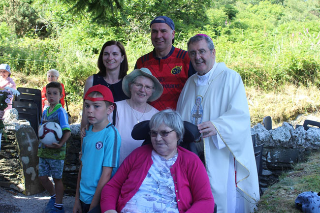 Bishop Crean with some of those who visited Ballyvourney