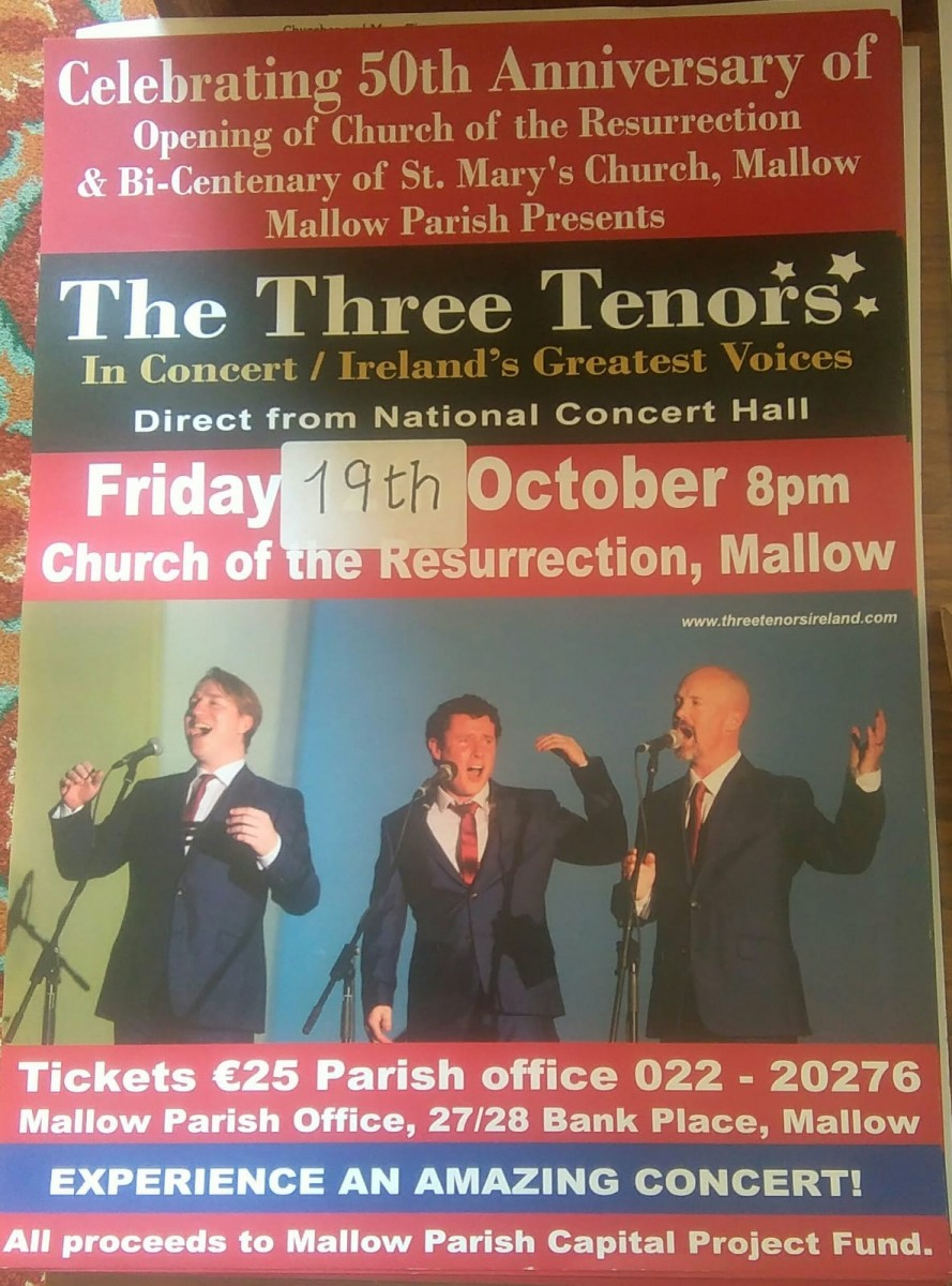 The Three Tenors - Church of the Resurrection, Mallow, to