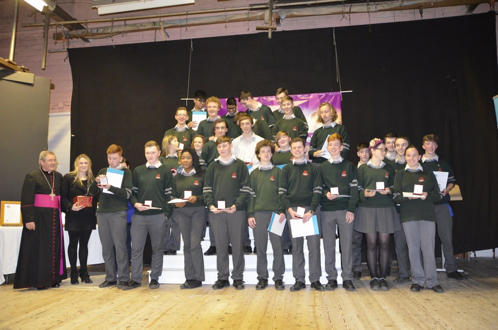 Students from St Colman's Community College Midleton