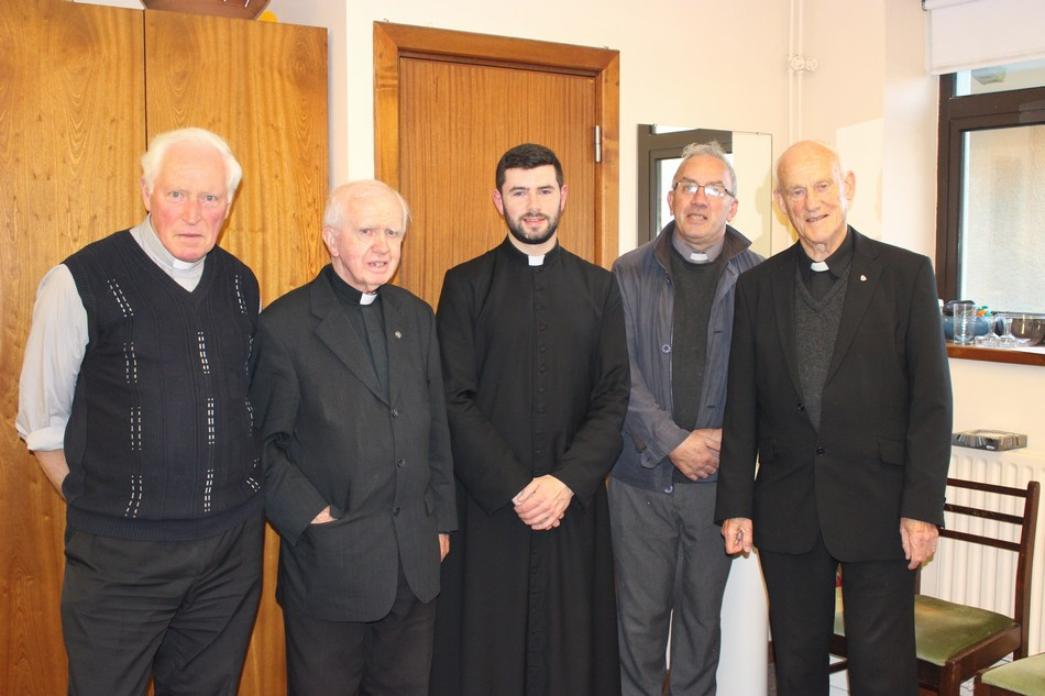 Fr. Dan Gould, Fr. Bernard Cotter SMA. Fr. Damien Lynch. Fr. Pat Corkery, Canon Tom Browne.